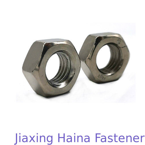Long Life 4 / 8 Gread Carbon Steel Hex Screw Nut Customized Chrome Plated